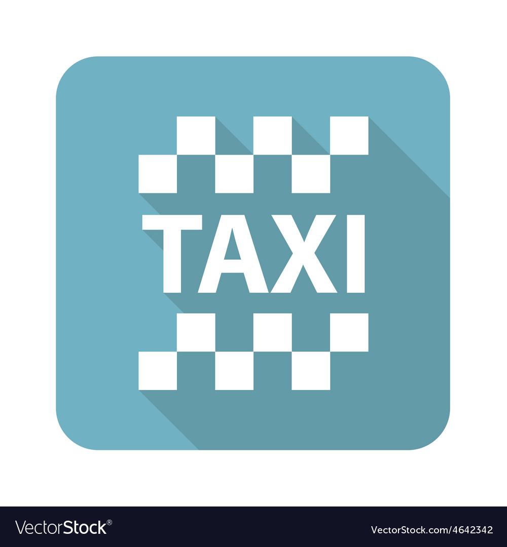 Square taxi icon vector | Price: 1 Credit (USD $1)