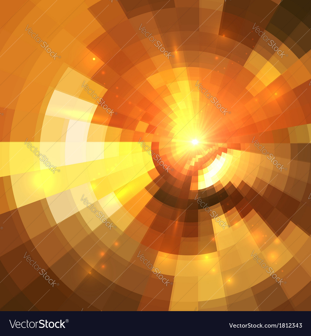 Abstract orange shining circle tunnel background vector | Price: 1 Credit (USD $1)
