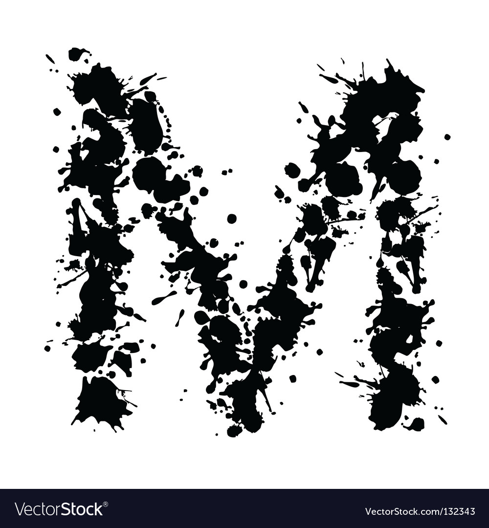 Alphabet ink m vector | Price: 1 Credit (USD $1)