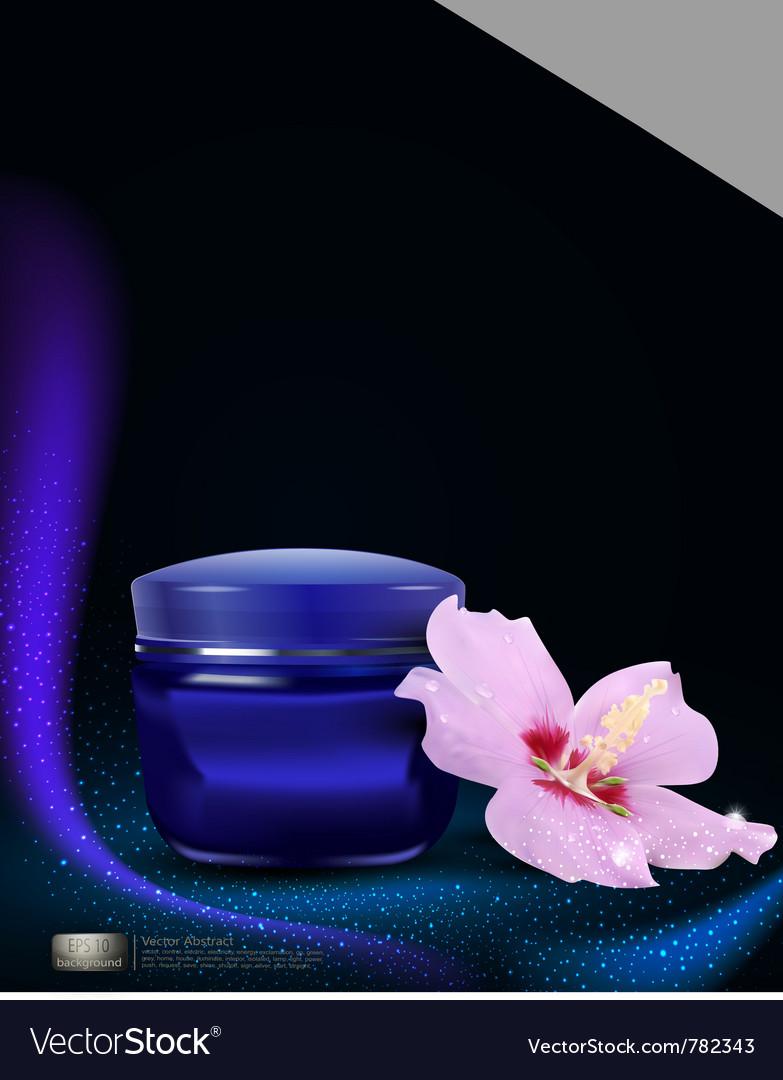 Blue jar of cream vector | Price: 1 Credit (USD $1)