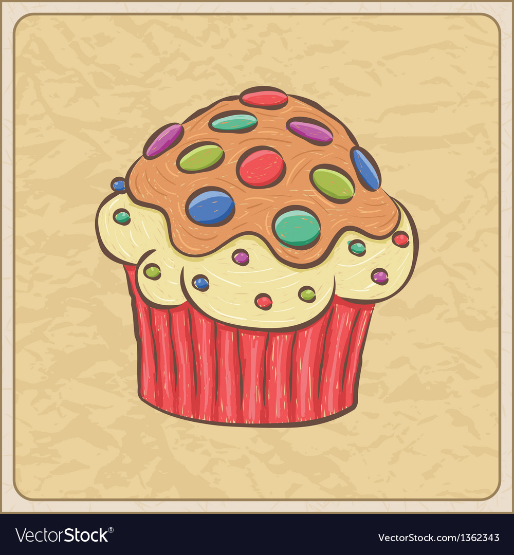 Cupcakes06 vector | Price: 1 Credit (USD $1)