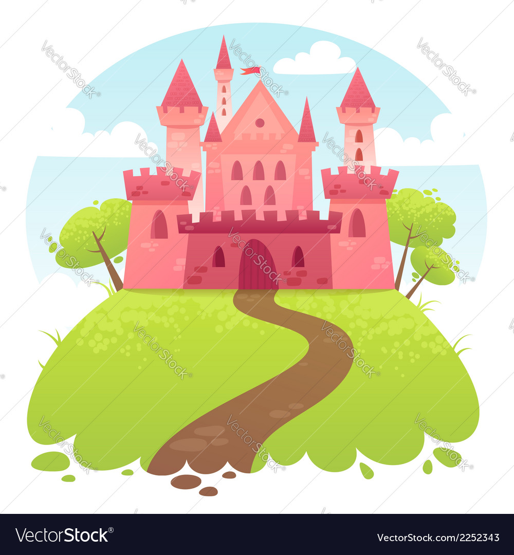 Cute cartoon medieval castle vector | Price: 1 Credit (USD $1)
