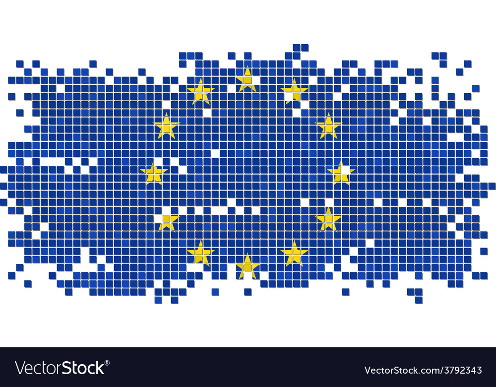 European union grunge tile flag vector | Price: 1 Credit (USD $1)