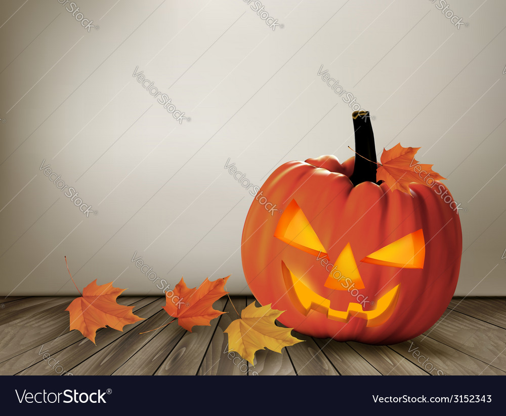 Halloween background with a jack o lantern vector | Price: 1 Credit (USD $1)