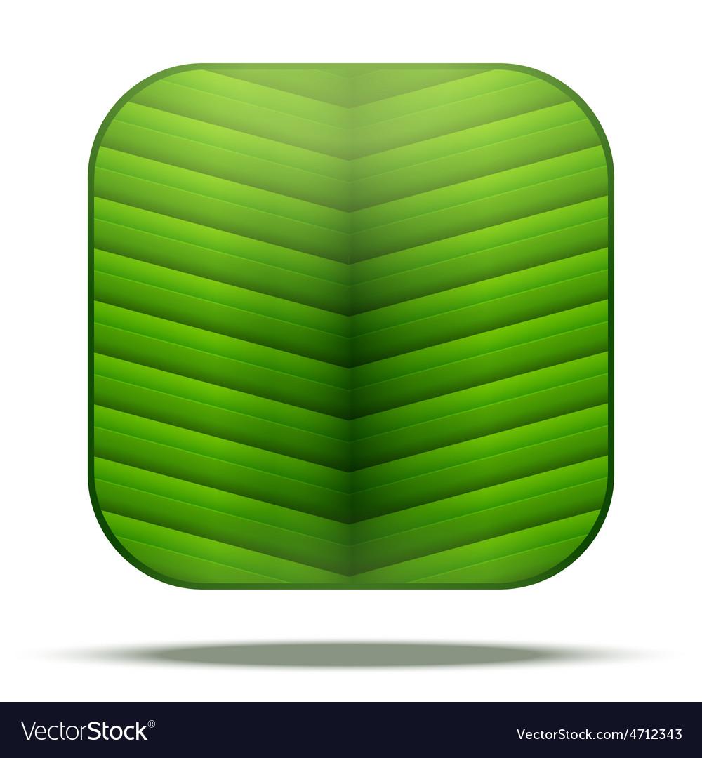 Leaf square icon vector | Price: 1 Credit (USD $1)