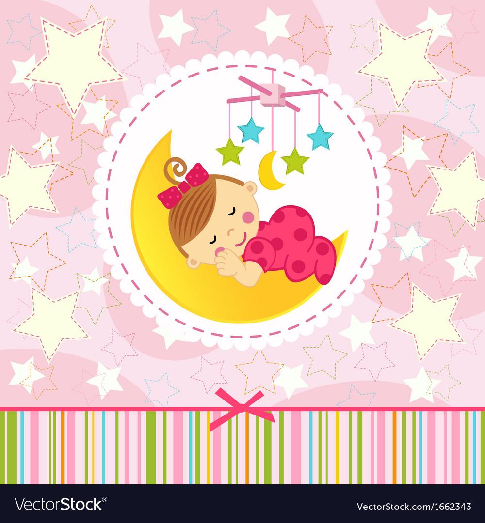 Little girl sleeping vector | Price: 1 Credit (USD $1)