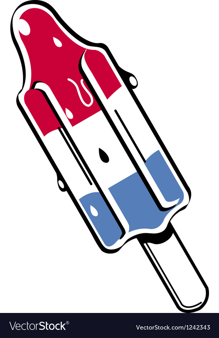 Popsicle rocket shaped vector | Price: 1 Credit (USD $1)