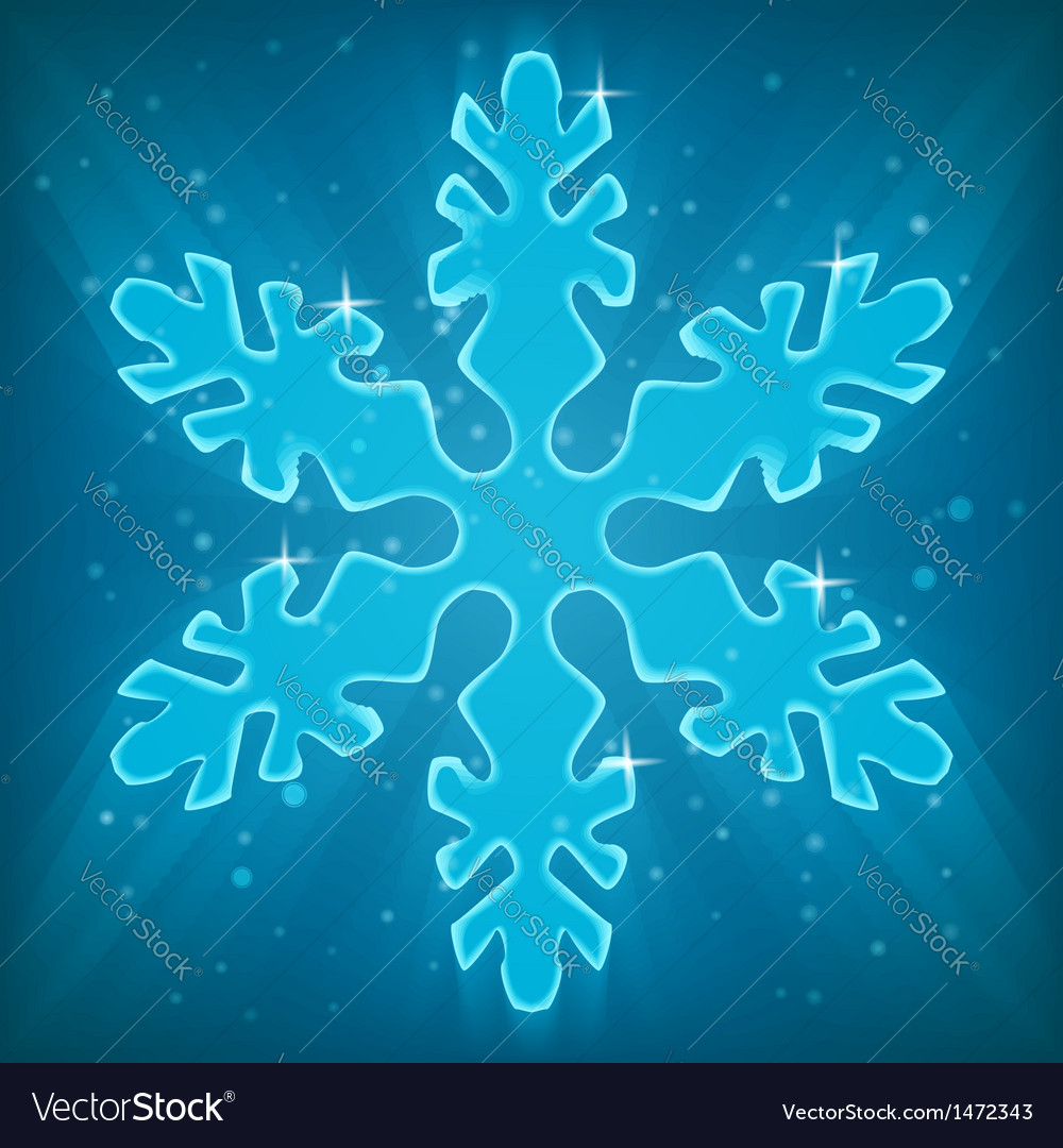 Shiny snowflake vector | Price: 1 Credit (USD $1)