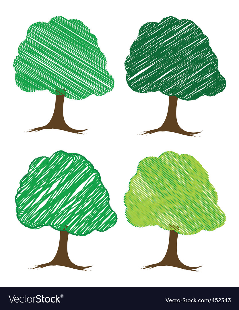 Sketchy trees vector | Price: 1 Credit (USD $1)