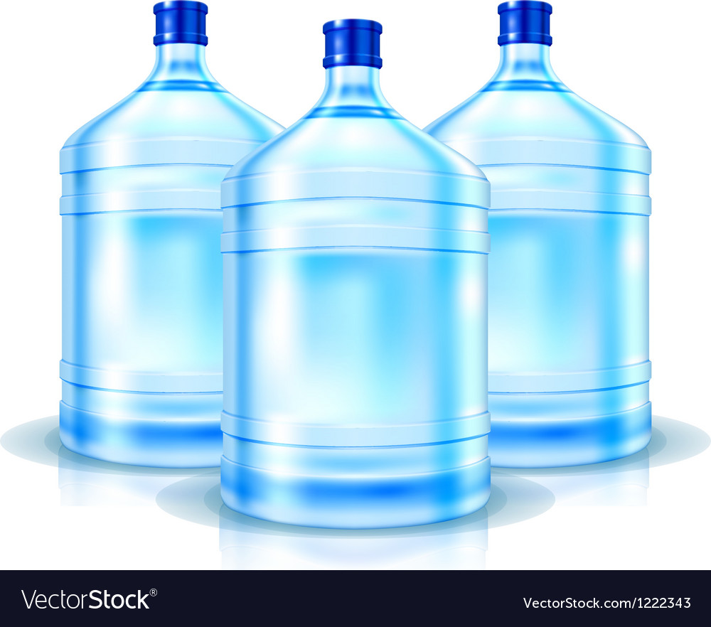 Three big bottles with clean water vector | Price: 3 Credit (USD $3)