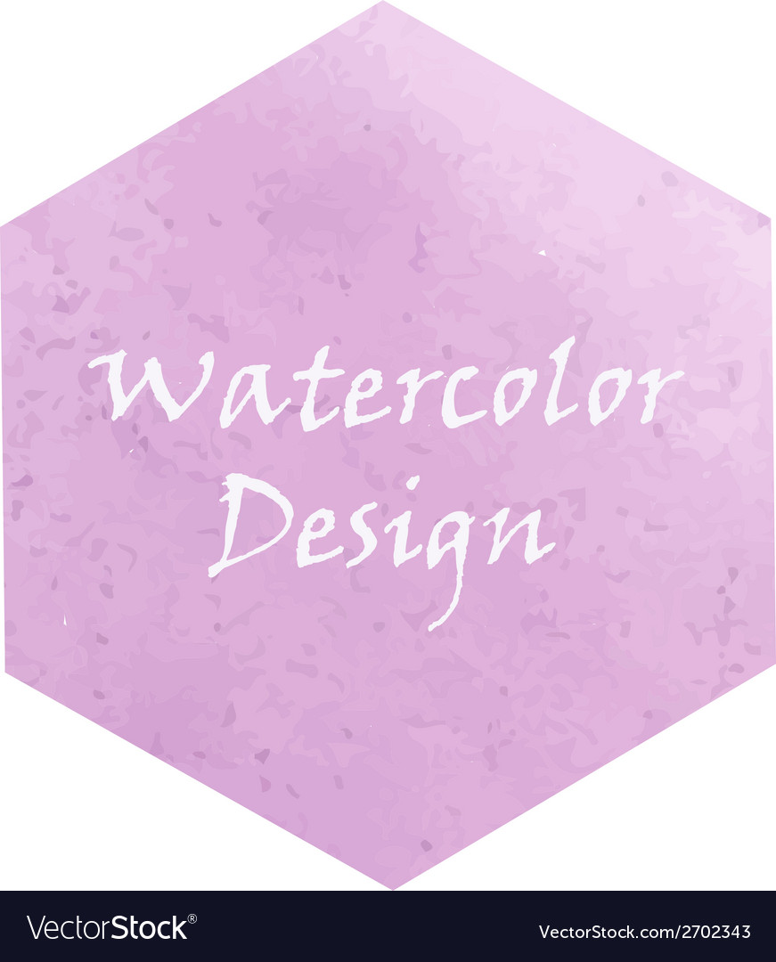 Watercolor hexagon vector | Price: 1 Credit (USD $1)