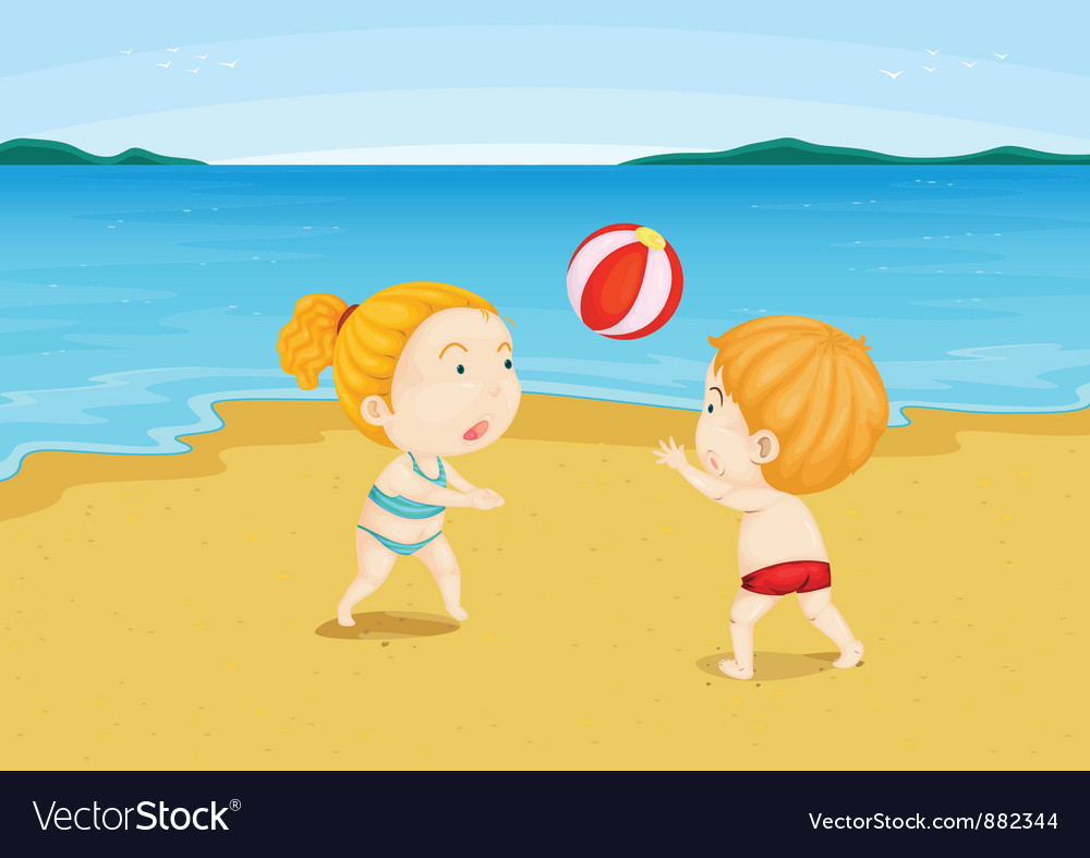 At the beach vector | Price: 5 Credit (USD $5)
