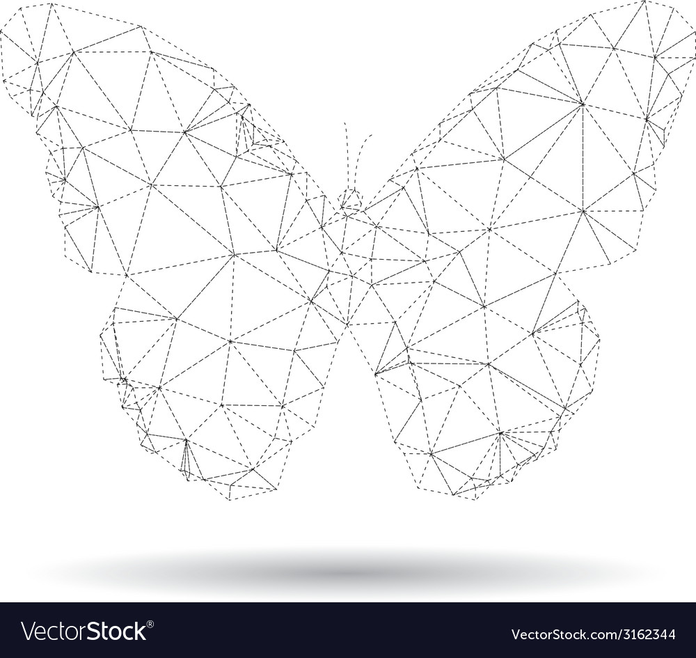 Butterfly isolated vector | Price: 1 Credit (USD $1)