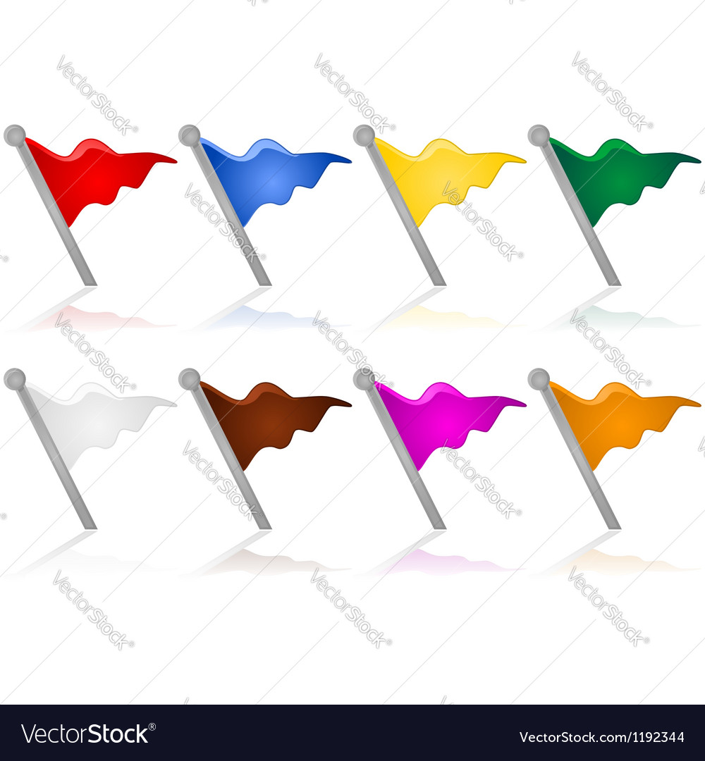 Color flags vector | Price: 1 Credit (USD $1)