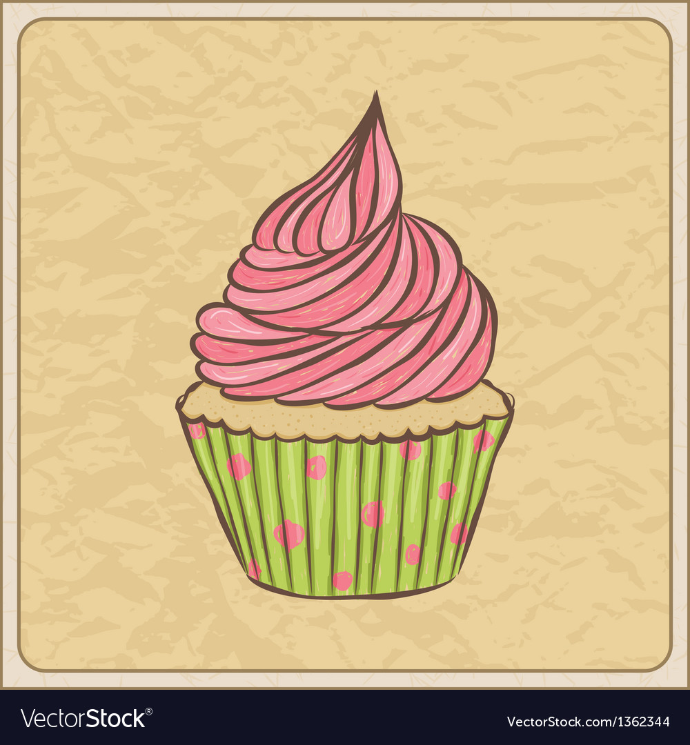 Cupcakes07 vector | Price: 1 Credit (USD $1)