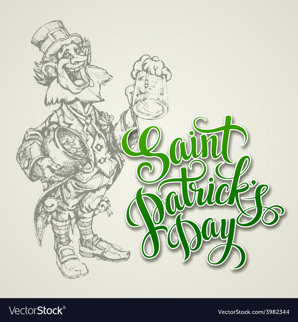 Leprechaun st patricks day vector | Price: 1 Credit (USD $1)