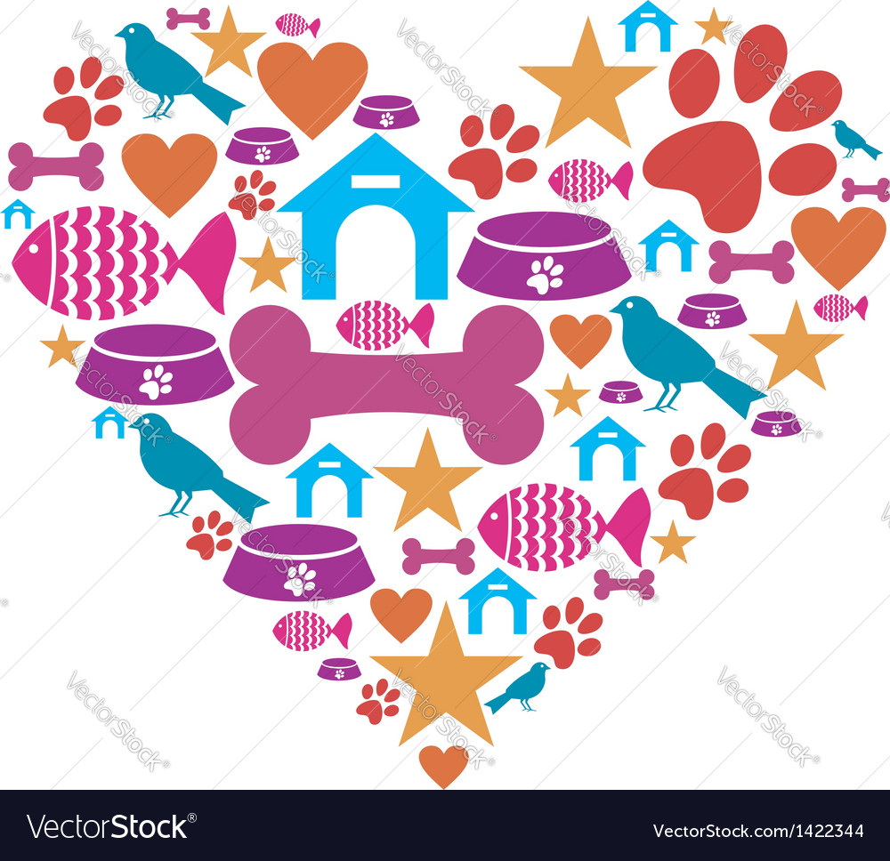 Love for pets vector | Price: 1 Credit (USD $1)