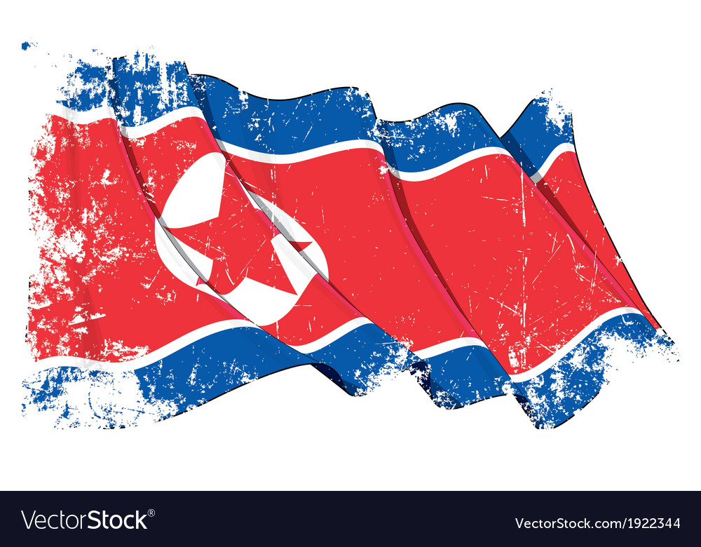 North korea flag grunge vector | Price: 1 Credit (USD $1)