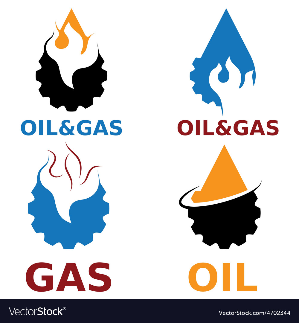 Oil and gas industry design elements vector | Price: 1 Credit (USD $1)