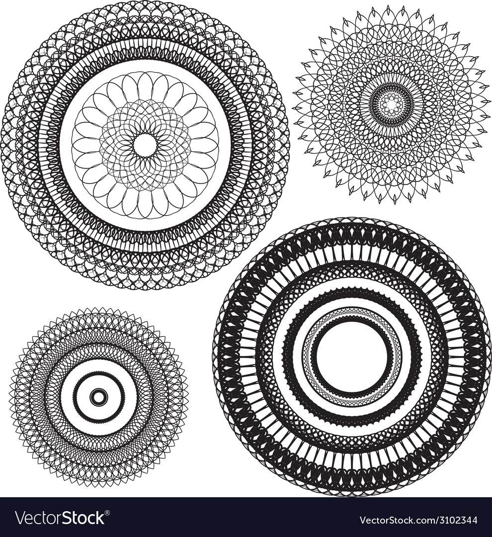 Set circle 1color 4 380 vector | Price: 1 Credit (USD $1)