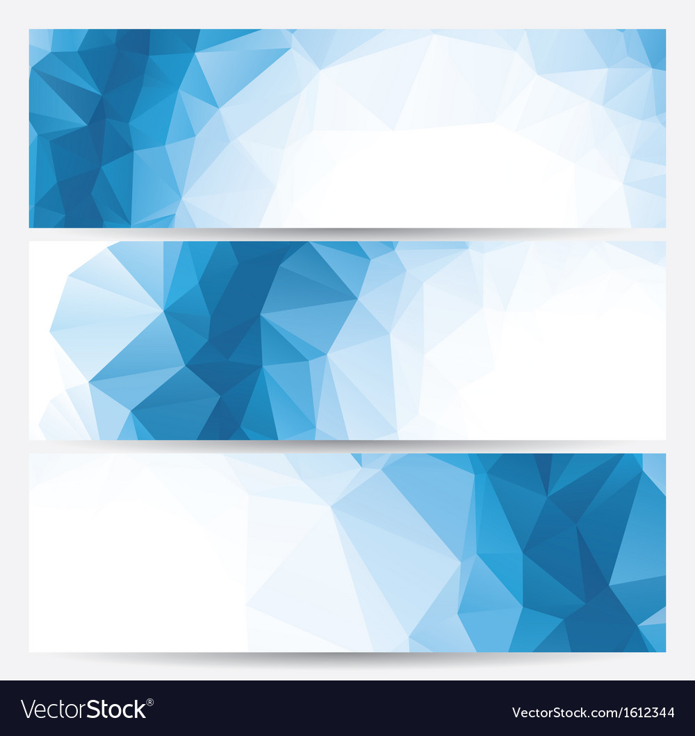 Set of abstract geometric banners vector | Price: 1 Credit (USD $1)