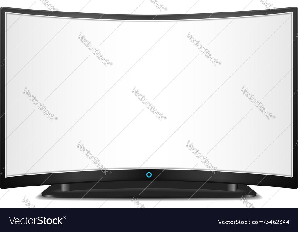Tv with curved screen vector | Price: 1 Credit (USD $1)
