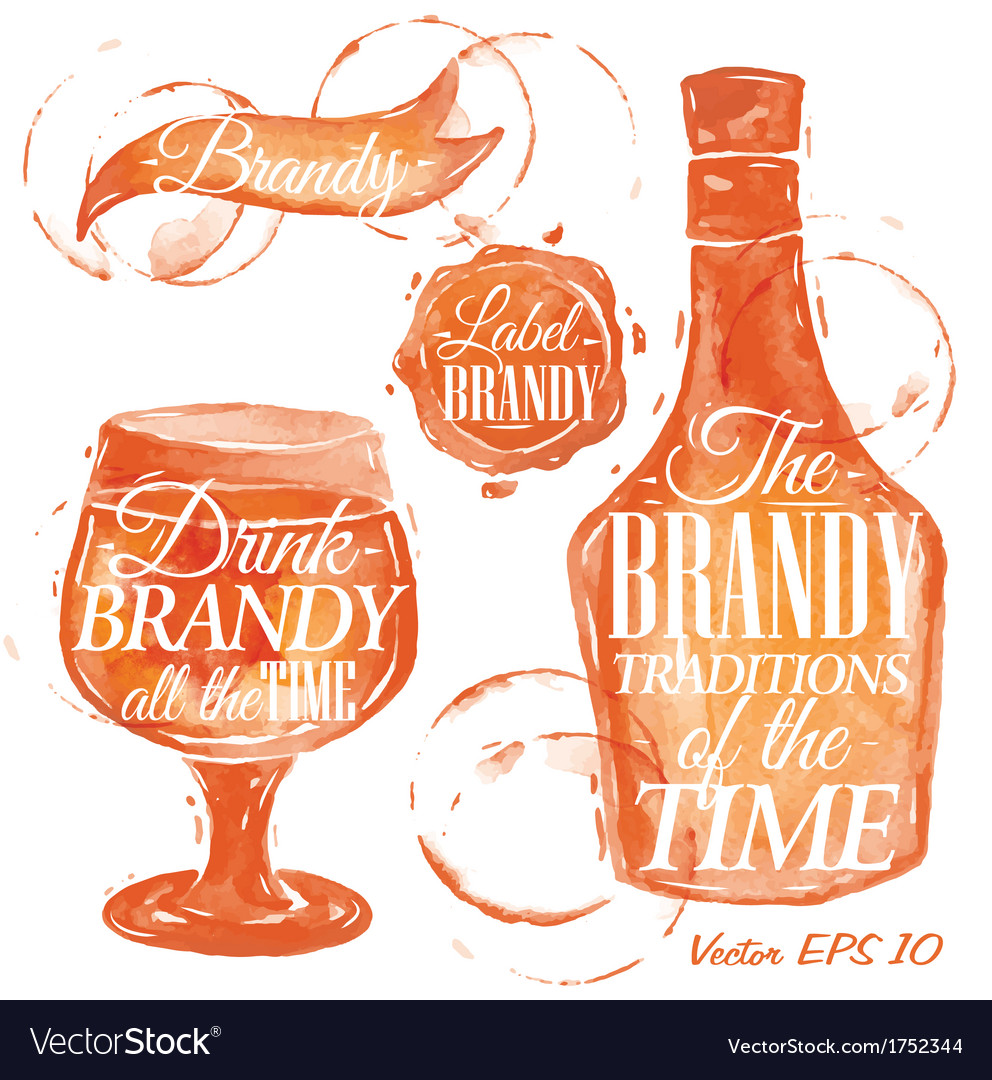 Watercolor brandy vector | Price: 1 Credit (USD $1)