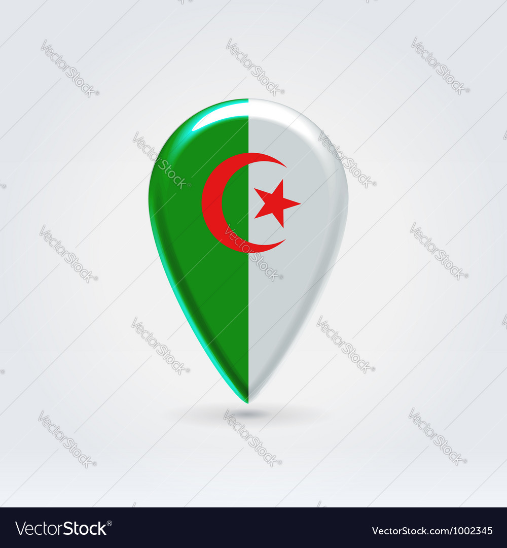 Algerian point icon for map vector | Price:  Credit (USD $)