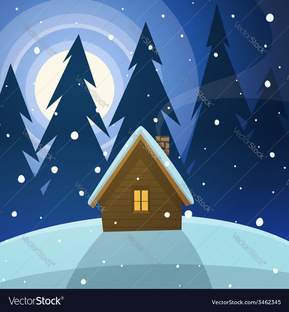 Cabin in the woods vector | Price: 3 Credit (USD $3)