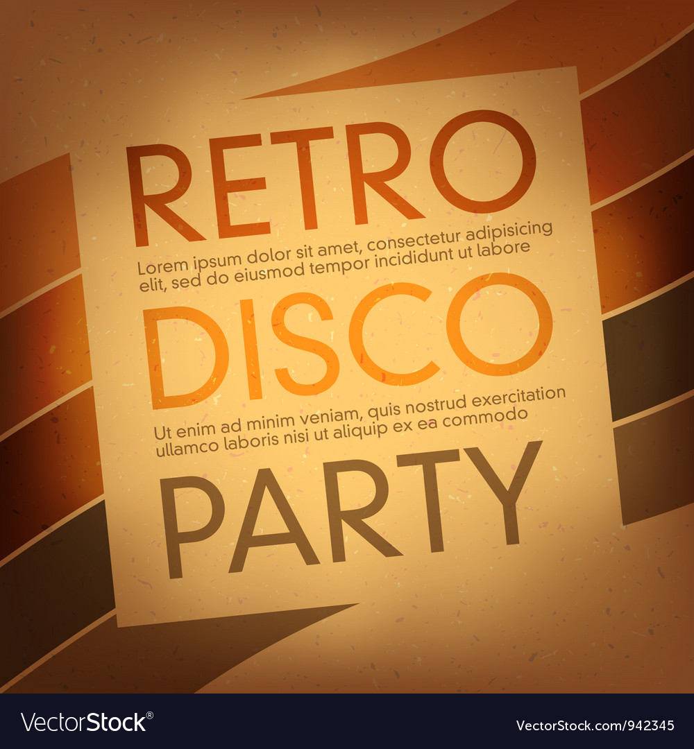 Disco party flayer design template vector | Price: 1 Credit (USD $1)