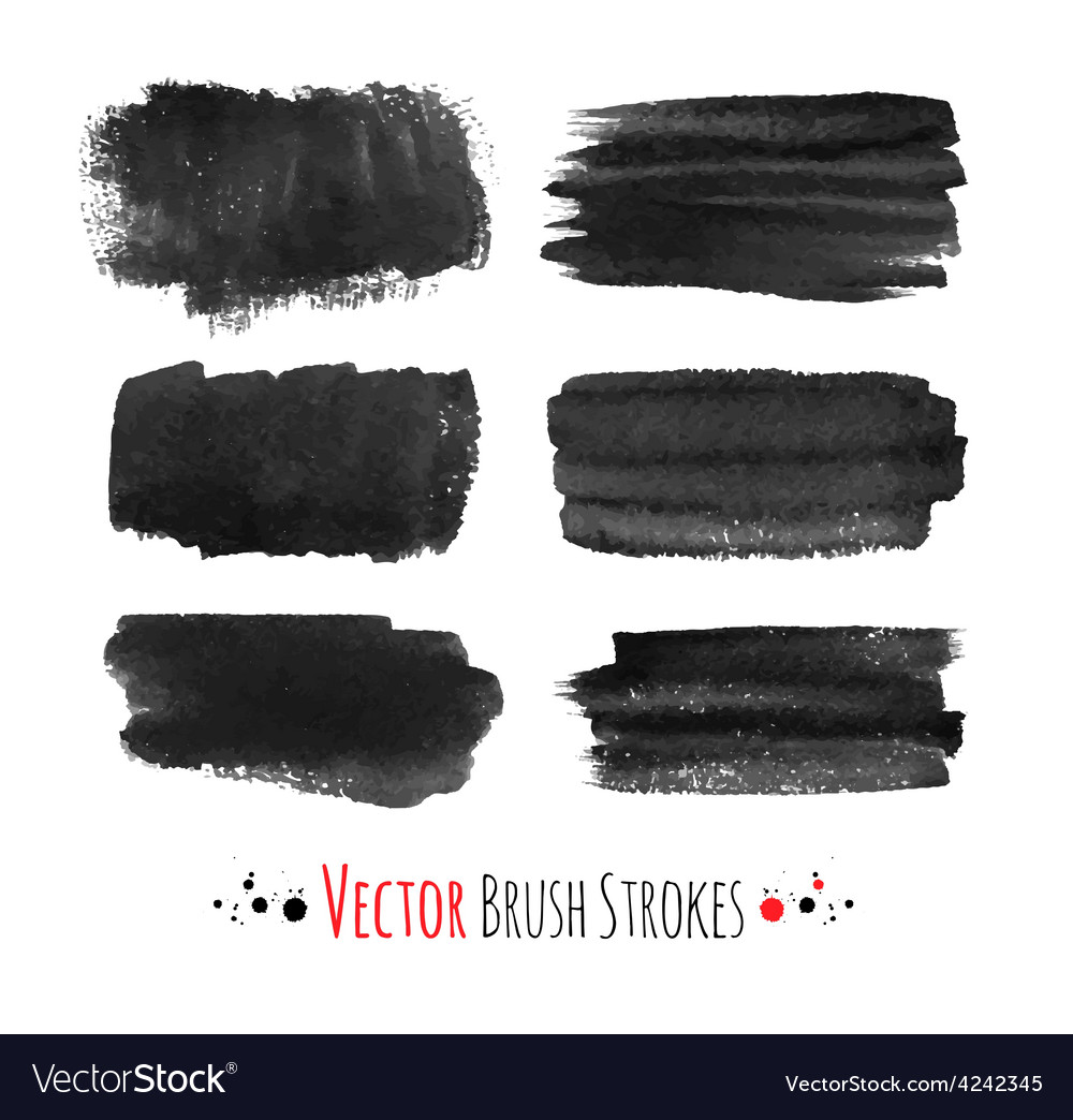 Hand drawn brush strokes vector | Price: 1 Credit (USD $1)