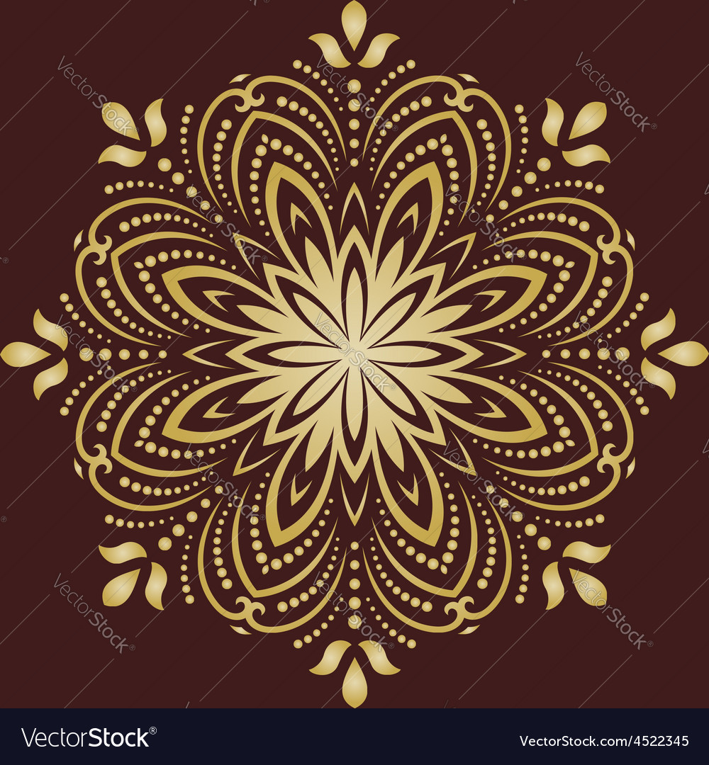 Orient abstract pattern vector | Price: 1 Credit (USD $1)