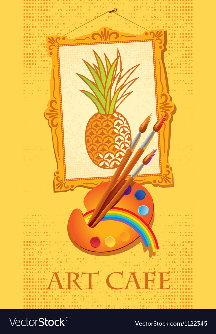 Pineapple with brushes vector | Price: 1 Credit (USD $1)