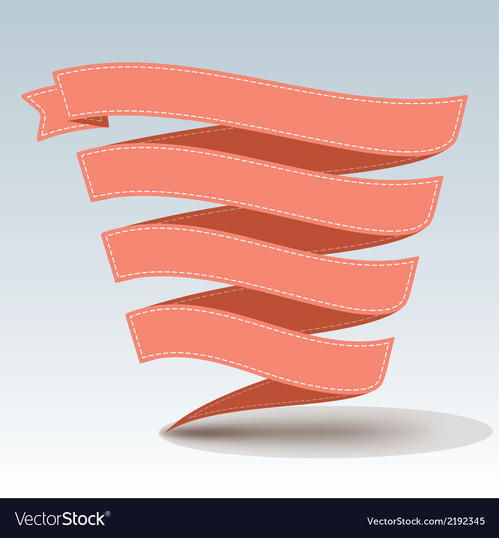 Ribbon banner with shadow vector | Price: 1 Credit (USD $1)