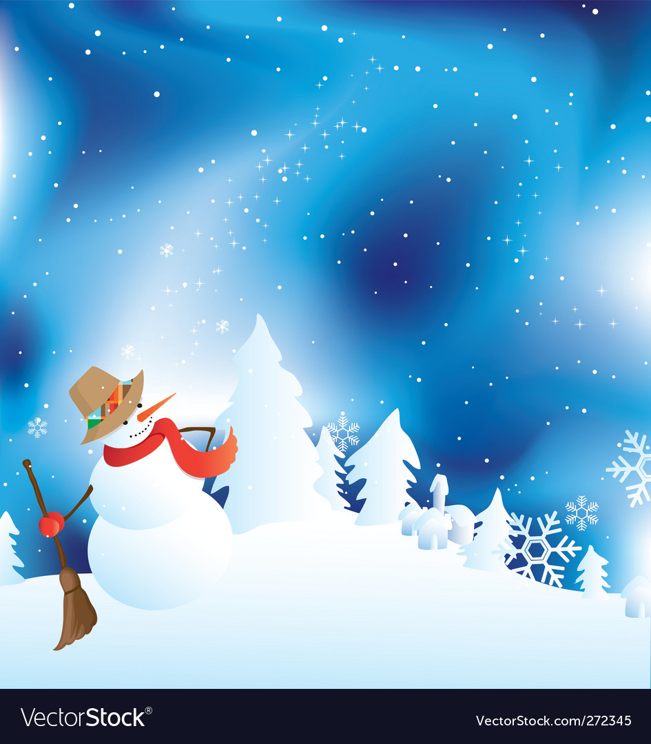 Snowman vector | Price: 1 Credit (USD $1)