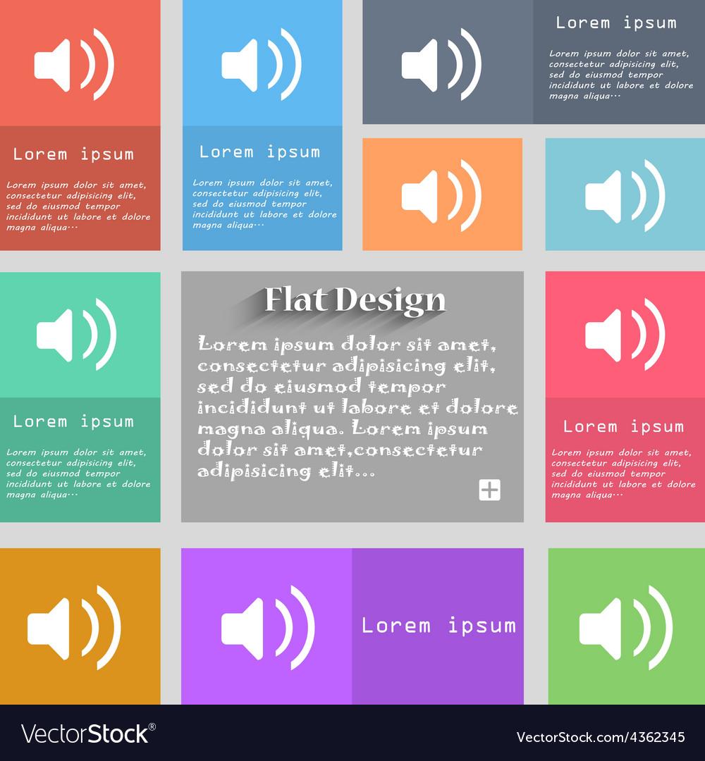 Speaker volume sound icon sign set of multicolored vector | Price: 1 Credit (USD $1)