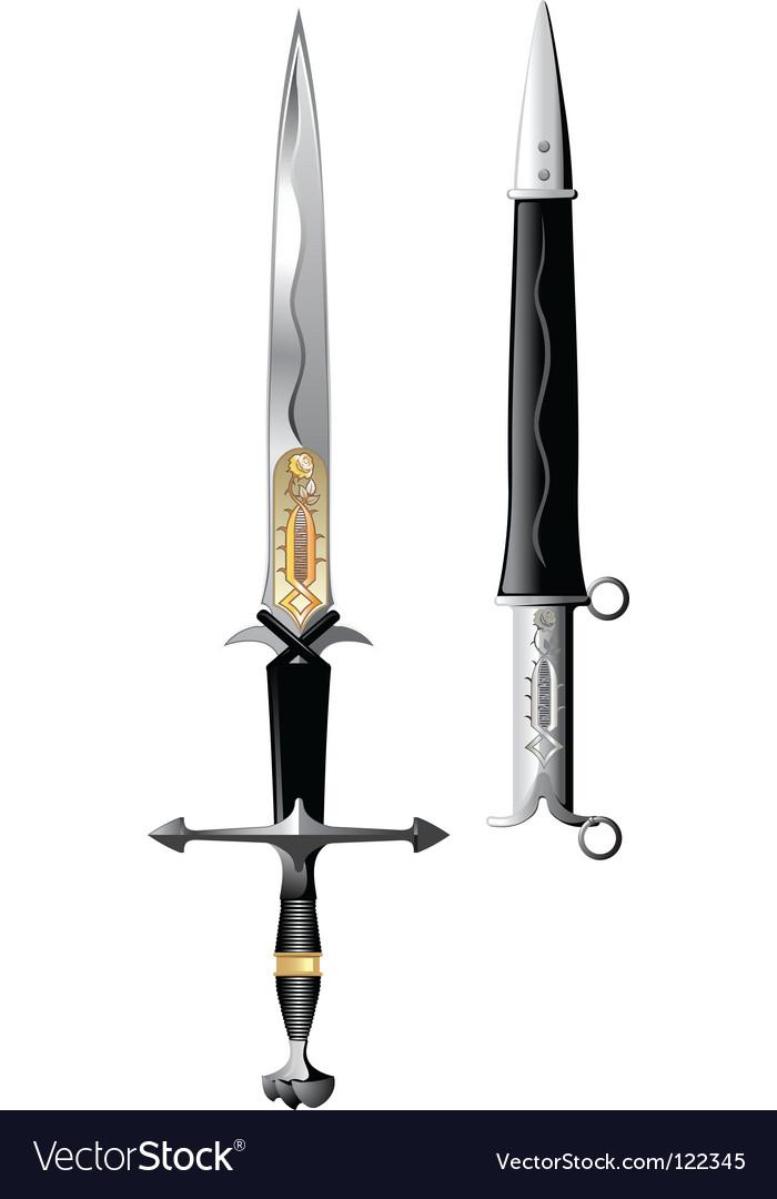 Sword rose vector | Price: 1 Credit (USD $1)