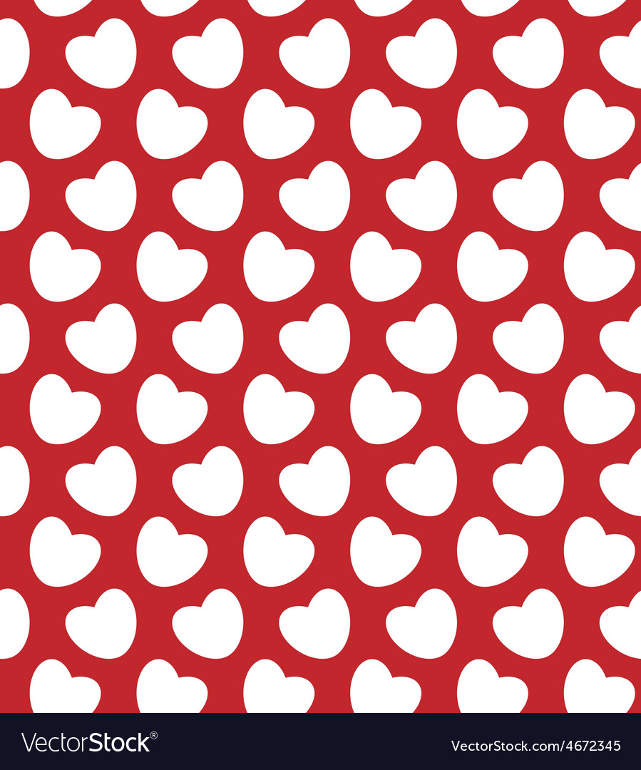 Valentine seamless with hearts vector | Price: 1 Credit (USD $1)
