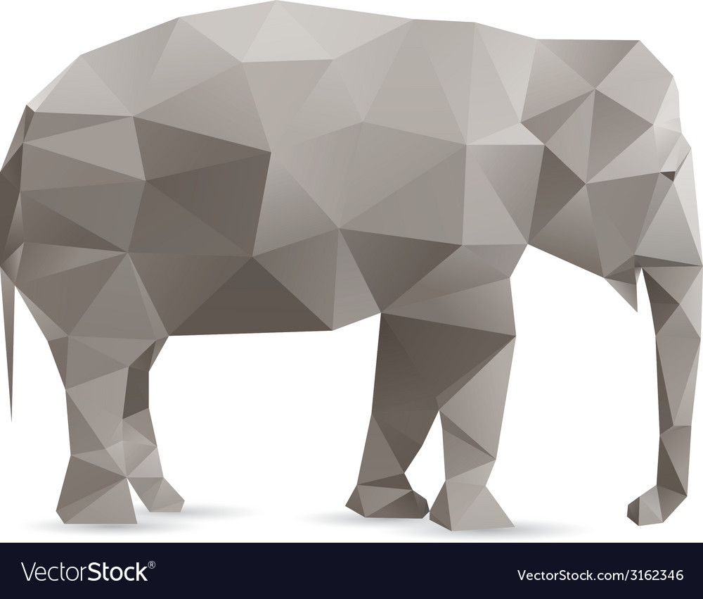 Abstract elephant vector | Price: 1 Credit (USD $1)