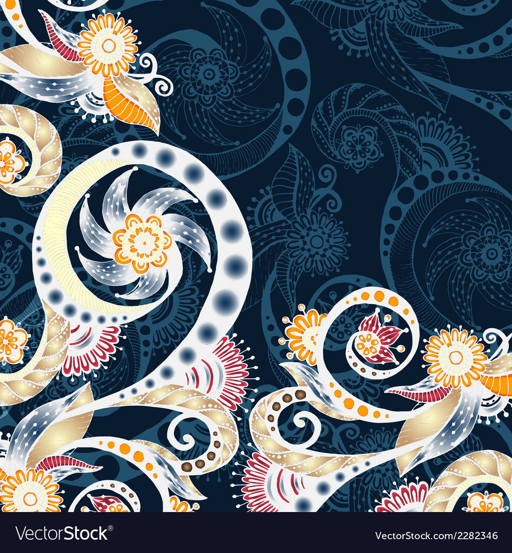 Abstract floral decorative background vector | Price: 1 Credit (USD $1)