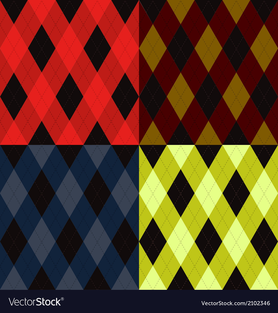 Argyle seamless pattern vector | Price: 1 Credit (USD $1)
