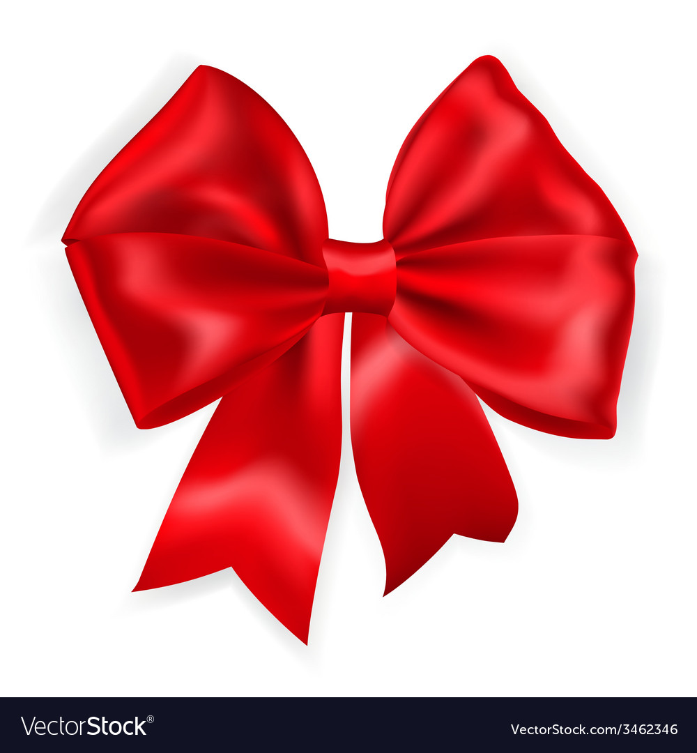 Big red bow vector | Price: 1 Credit (USD $1)
