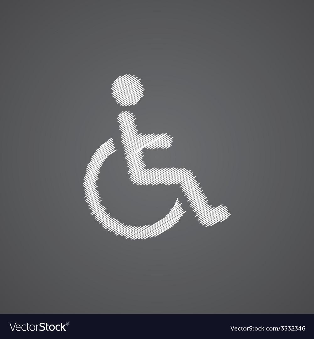 Cripple sketch logo doodle icon vector   Price: 1 Credit (USD $1)