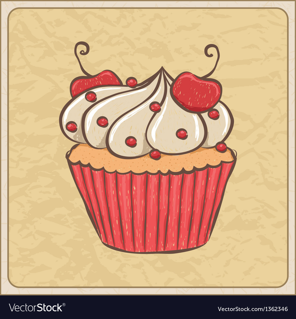 Cupcakes08 vector | Price: 1 Credit (USD $1)