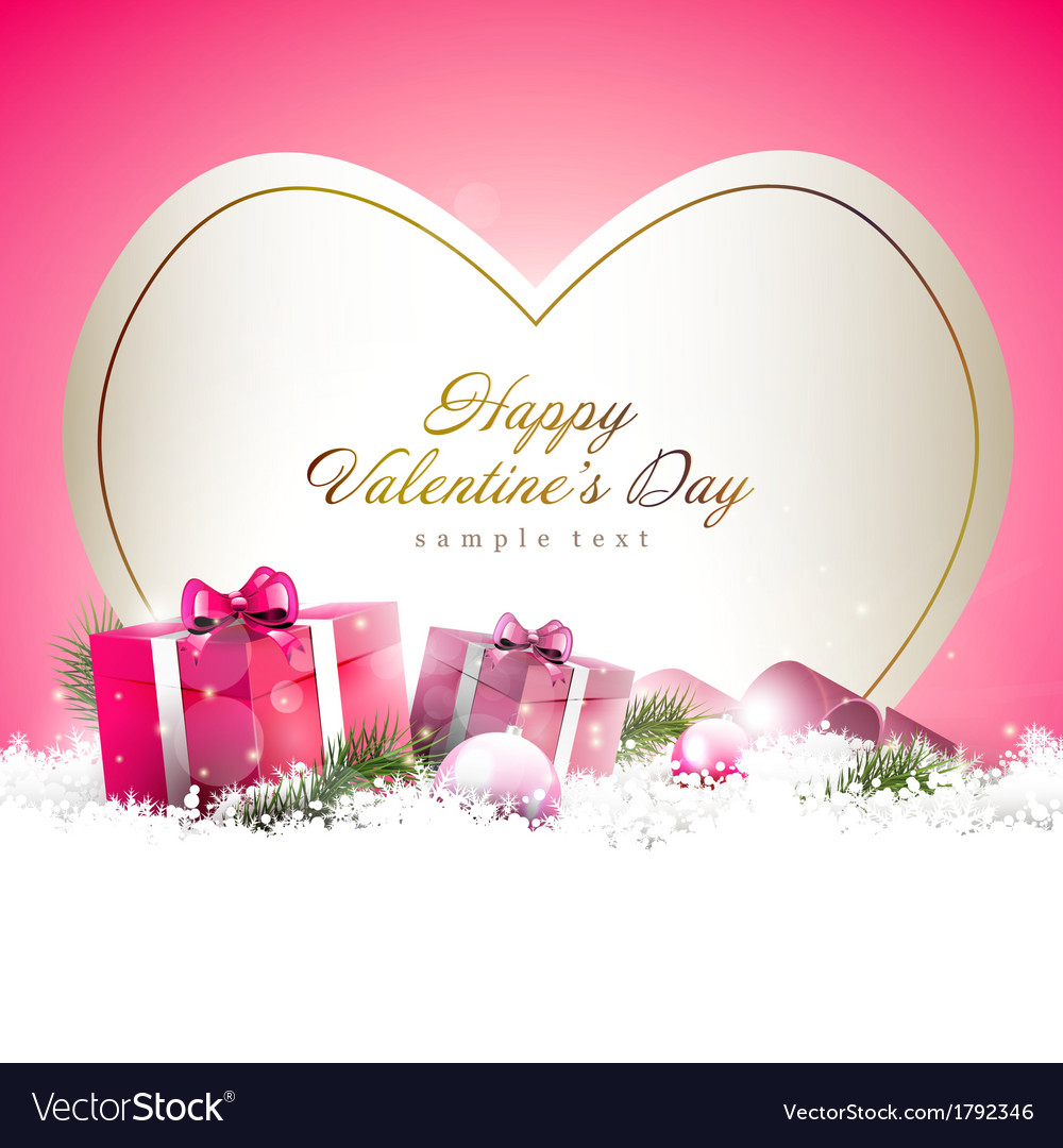 Cute pink valentine day background vector | Price: 1 Credit (USD $1)