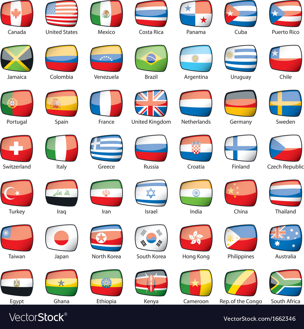 International flags vector | Price: 1 Credit (USD $1)
