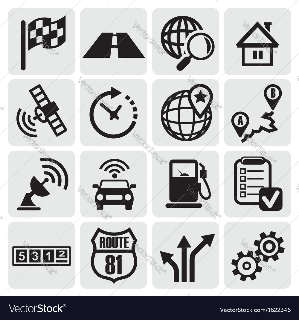 Navigation set vector | Price: 1 Credit (USD $1)