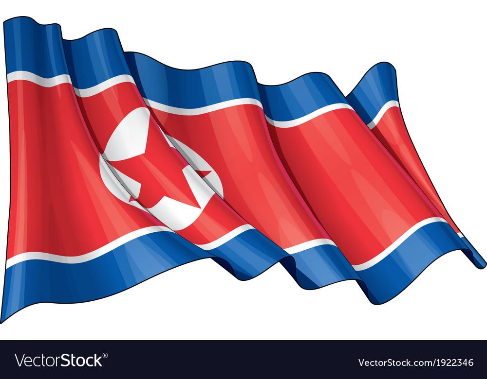 North korea flag vector | Price: 1 Credit (USD $1)