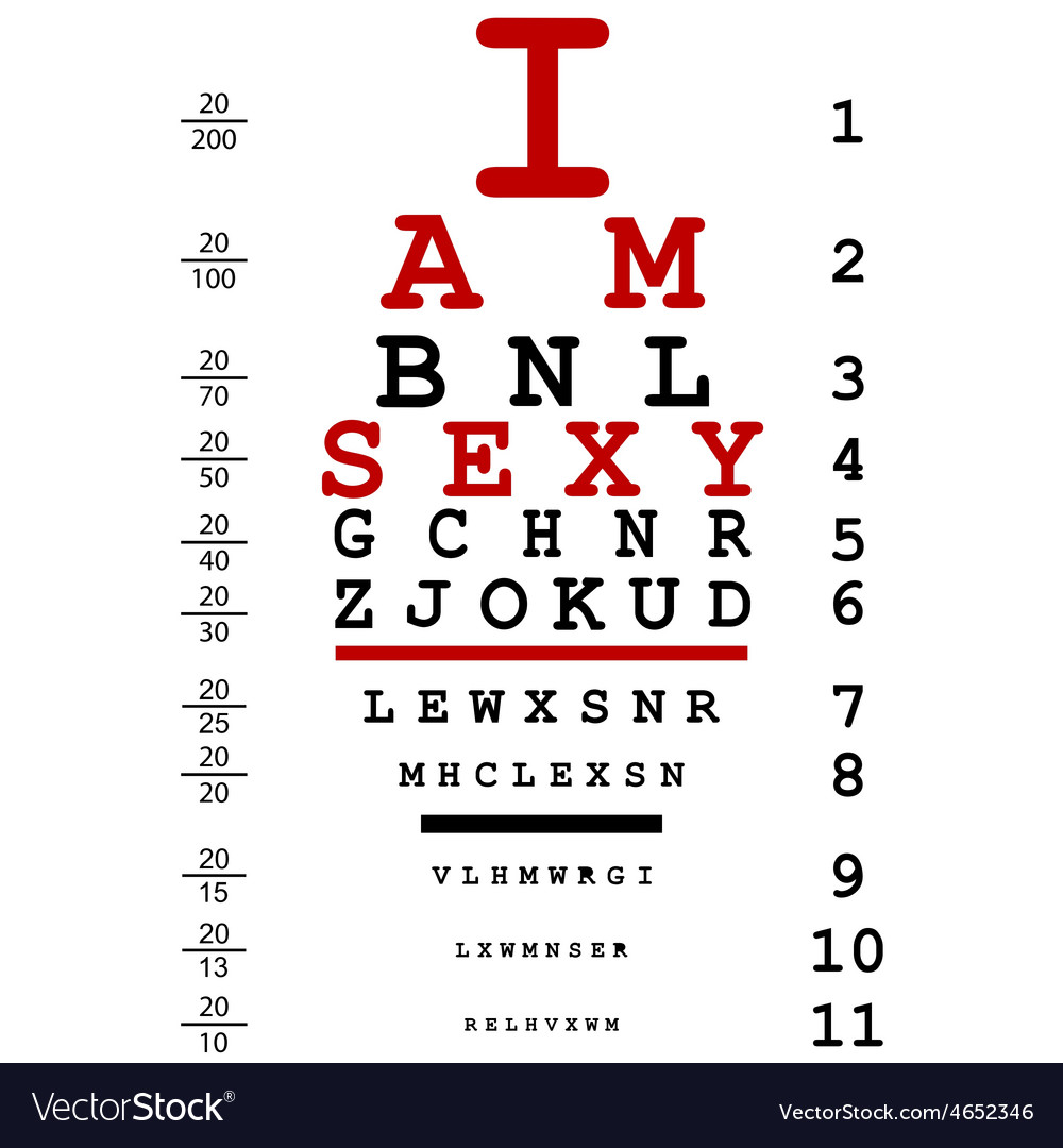 Optical eye test used by doctors with text i am vector | Price: 1 Credit (USD $1)