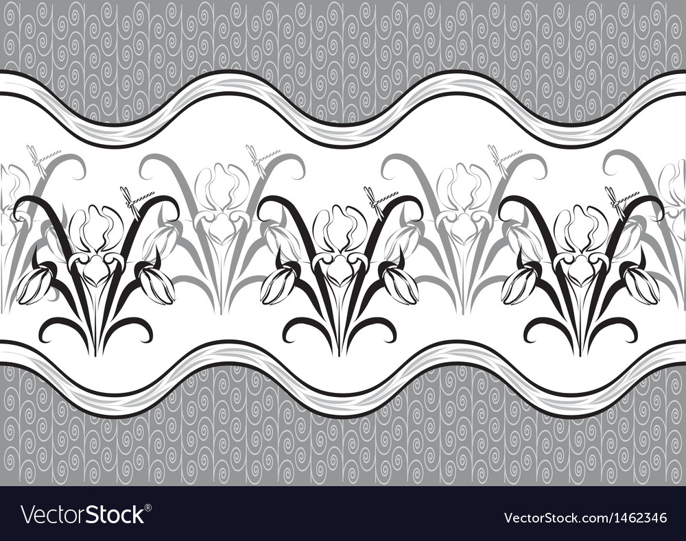 Ornament of irises vector | Price: 1 Credit (USD $1)
